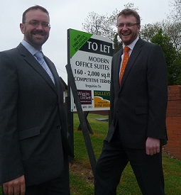 Anthony Wiggins & Chris Pallett at Kingswood Business Park where superfast broadband has been installed.