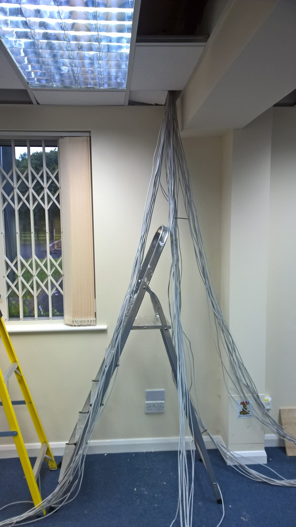 network cabling at Radford House